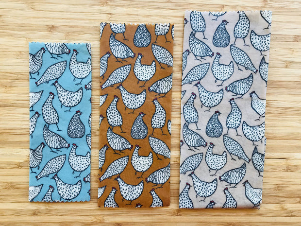 Reusable beeswax wraps pack of 3