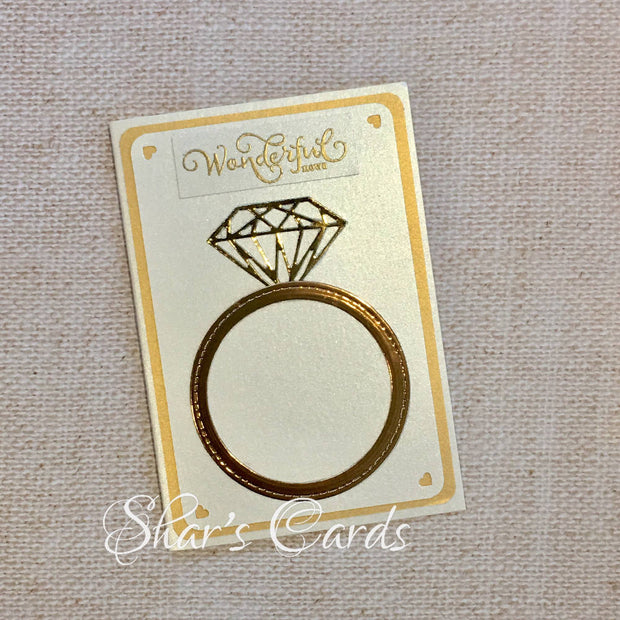 Engagement Congratulations card, ring