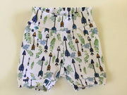 Baby Yoga stretch Shorts with matching Bandana Bib, Arrows