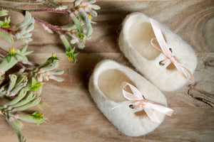 Melbourne Mary-Janes - 100% wool felted custom made baby shoes