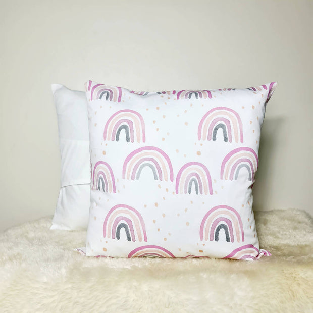 Pink Rainbows Cushion cover 18inch (45x45cm)