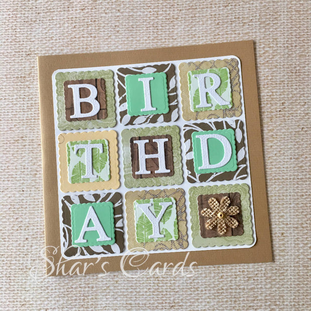 Eco-love Patchwork Birthday card