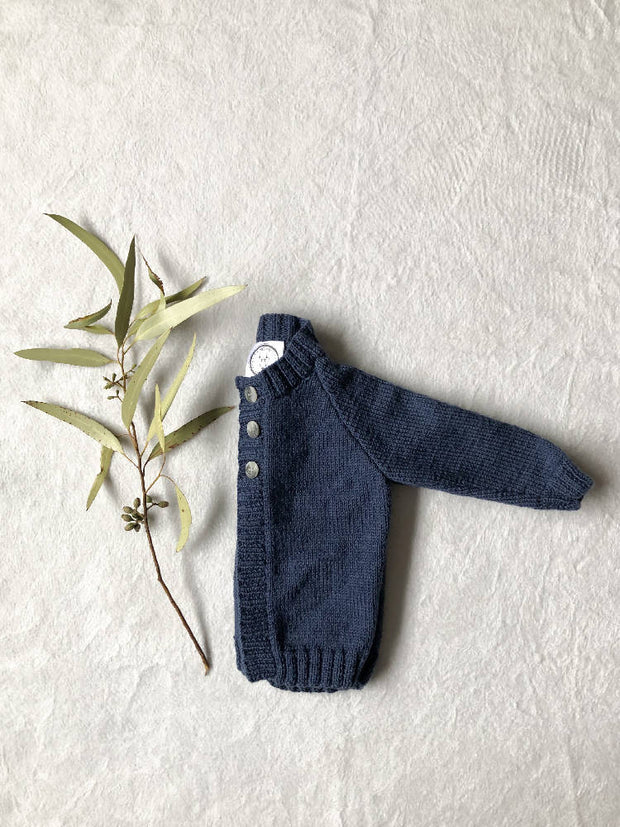 Blue Denim Plain Cardigan