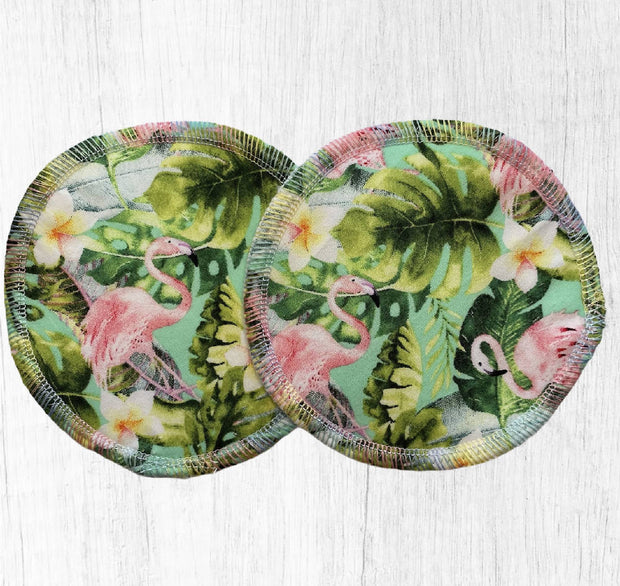 Reusable Breast Pads / Nursing Pads, Set of 5 ~ Tropical Pink