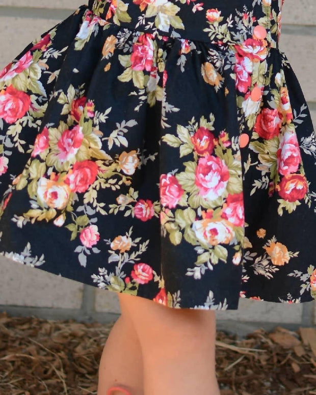 Floral Black Byron Bay Dress