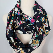 Tattoo / Sailor print infinity scarf