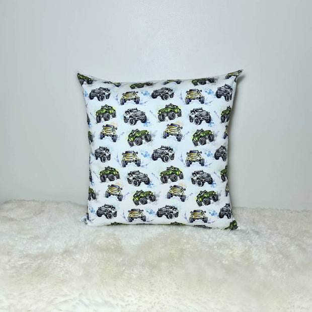 Monster truck print cushion cover