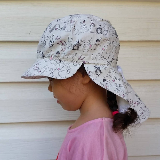 Adjustable Sunhat - Bunny Parade