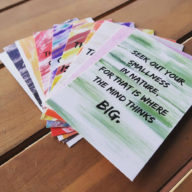 Set of 10 x A6 Original Affirmation Postcards