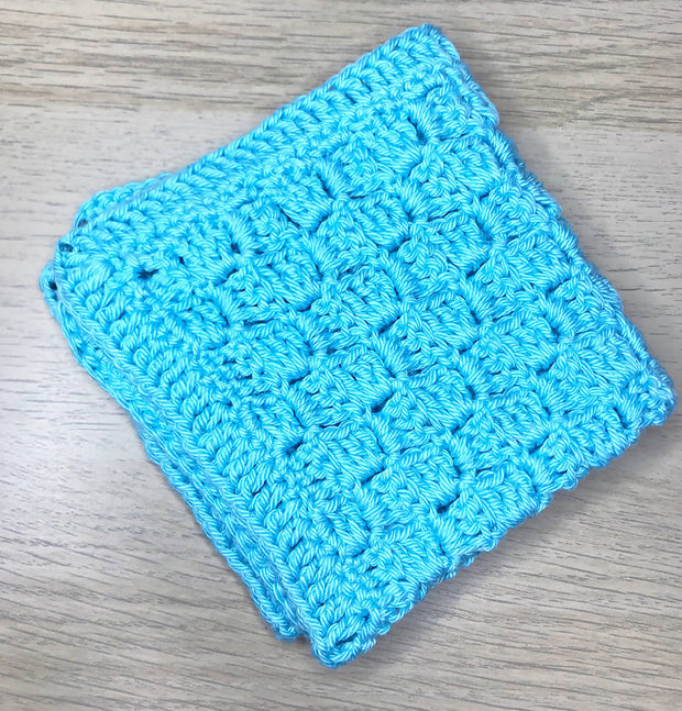 Hand crocheted cotton washcloths