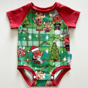 Raglan Bodysuit - Christmas Vikings