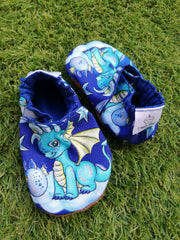 Blue dragon soft soled shoes