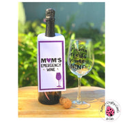WINE BOTTLE CARD TAG