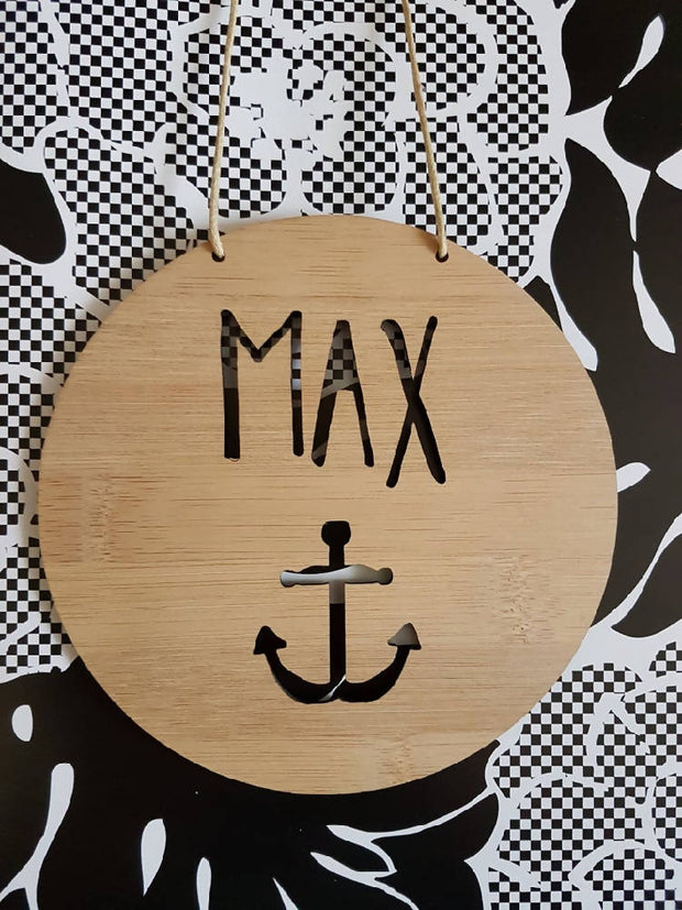 Anchor Wall Hanging (Bamboo or Pastel Coloured Acrylic)