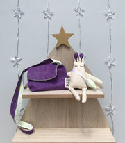 Linen bunny with kids bag