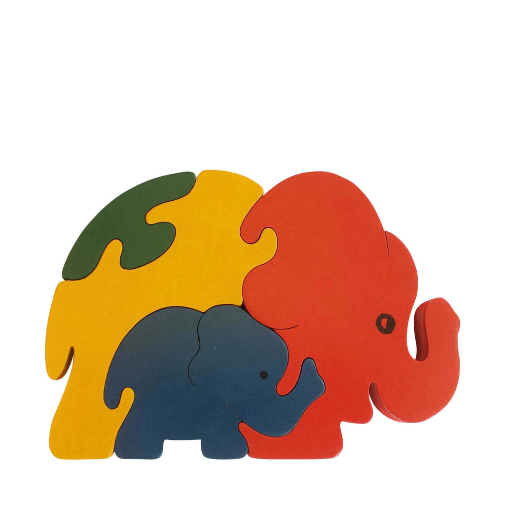 Elephant Wooden Animal Puzzle