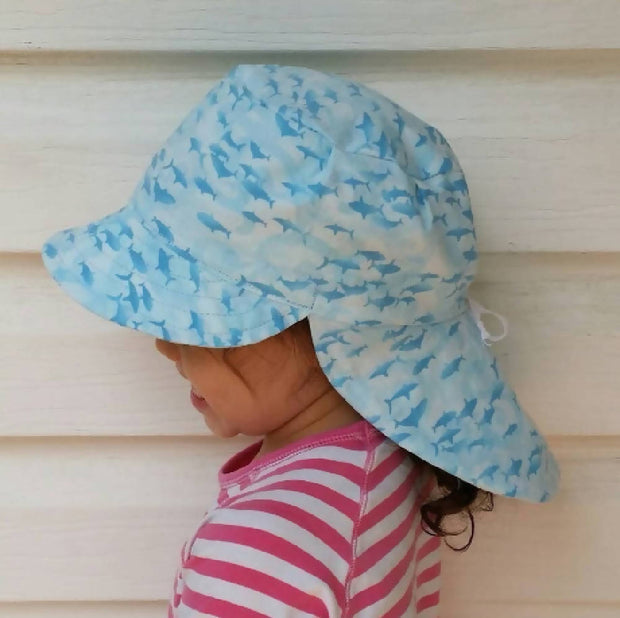 Adjustable Sunhat - Calming Sharks