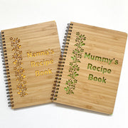 Bamboo cover recipe book