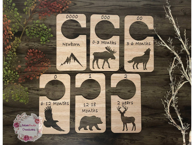 Rustic Woodland - Nursery Closet Dividers