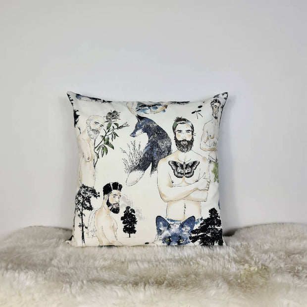 Silver foxes Cushion Cover (18inch)