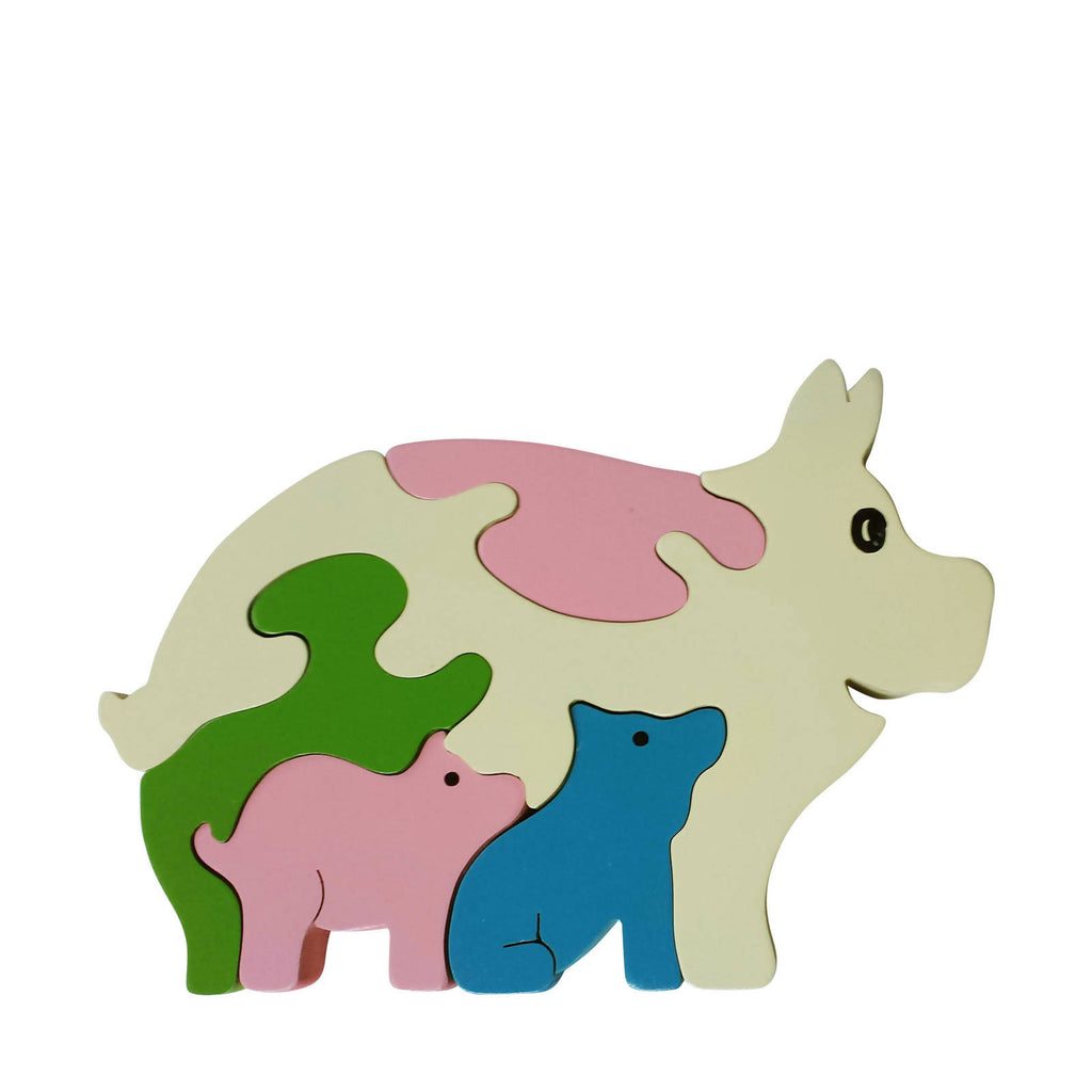 Pig Wooden Animal Puzzle