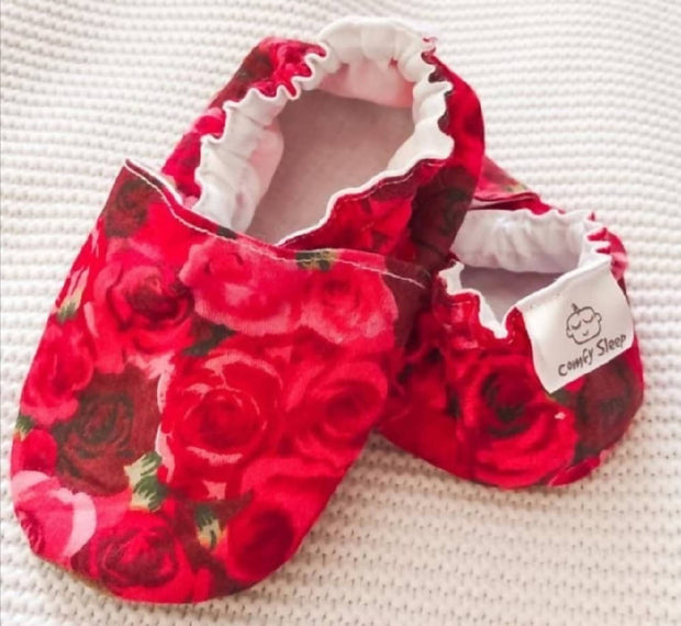 Red Roses soft soled shoes