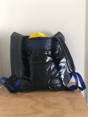 Roll Top Air Backpack - made from upcycled airbeds - Sustainably made