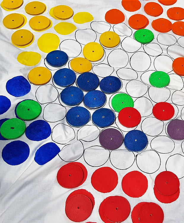 Outdoor Chinese Checkers and Checkers Board Game