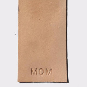 Custom Initials/Name Leather Bookmark