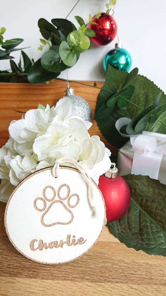 Christmas deco's - Personalised Pet Ornament