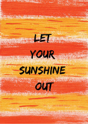 Sunshine A6 Affirmation Postcard