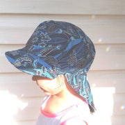 Adjustable Sunhat - Indigenous Turtle Print