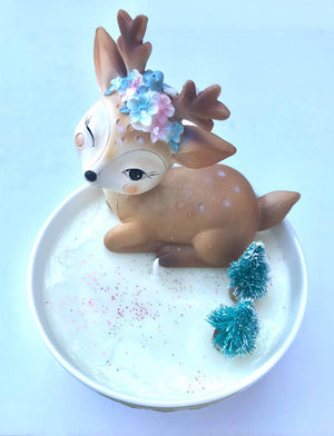 Reindeer Christmas Candle