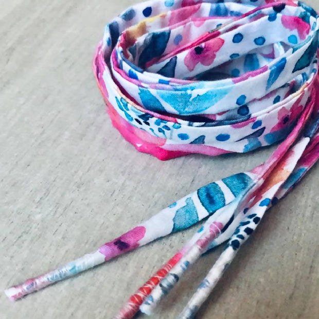Scrappy Fabric Shoelaces