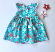 Aussie Christmas Animals Dress and Peplum Top and Ruffle Bum Set