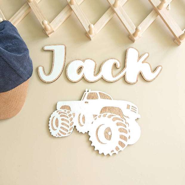 Cute wooden cut outs - Monster truck
