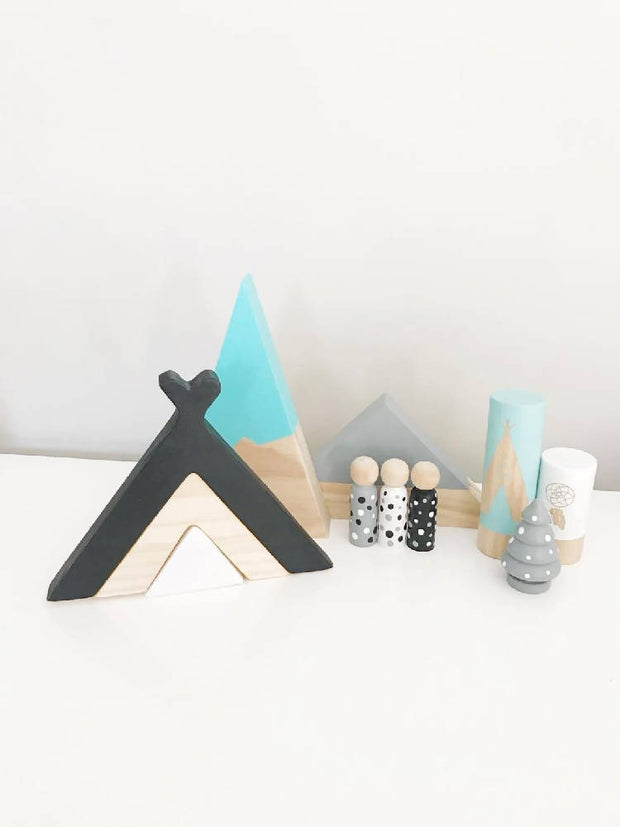 Wooden Teepee Stacker