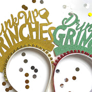 Christmas fun party crown/ Christmas Headband Drink up Grinches