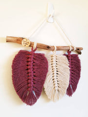 Macrame feather wall hanging small