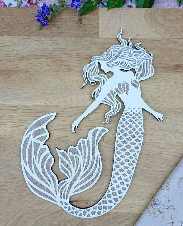 Cute wooden cut outs - Mermaids