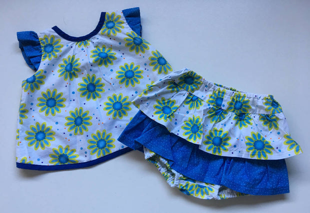 Girls ruffle top and bloomers