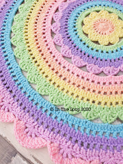 MADE TO ORDER Stunning 100cm Pastel Rainbow Floor Rug