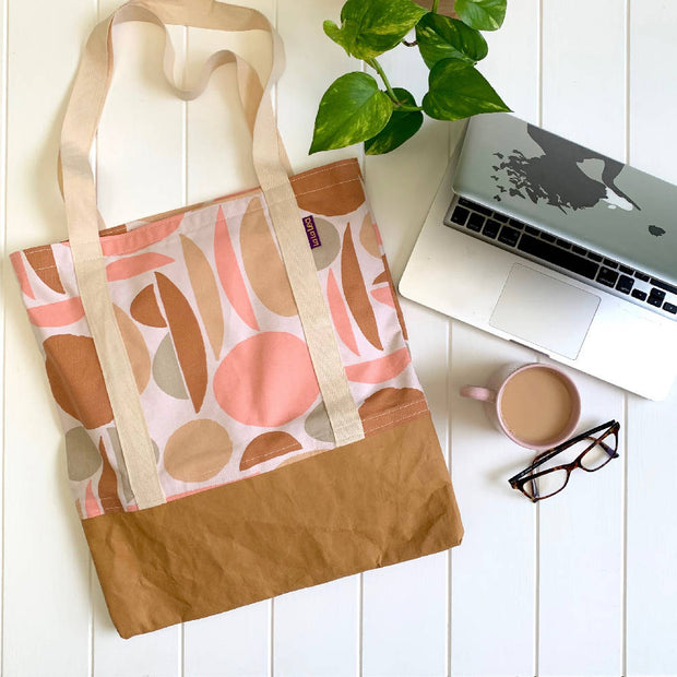 Cotton Tote Bag - Neutral Shapes