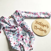 Girls' Sweet Floral Surfsuit