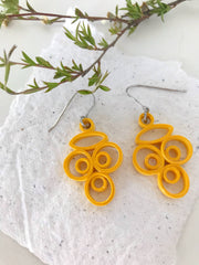 Yellow sunshine quilled earrings - you won't believe it's paper!