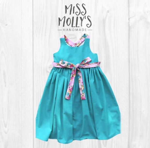 Turquoise Frankie Dress