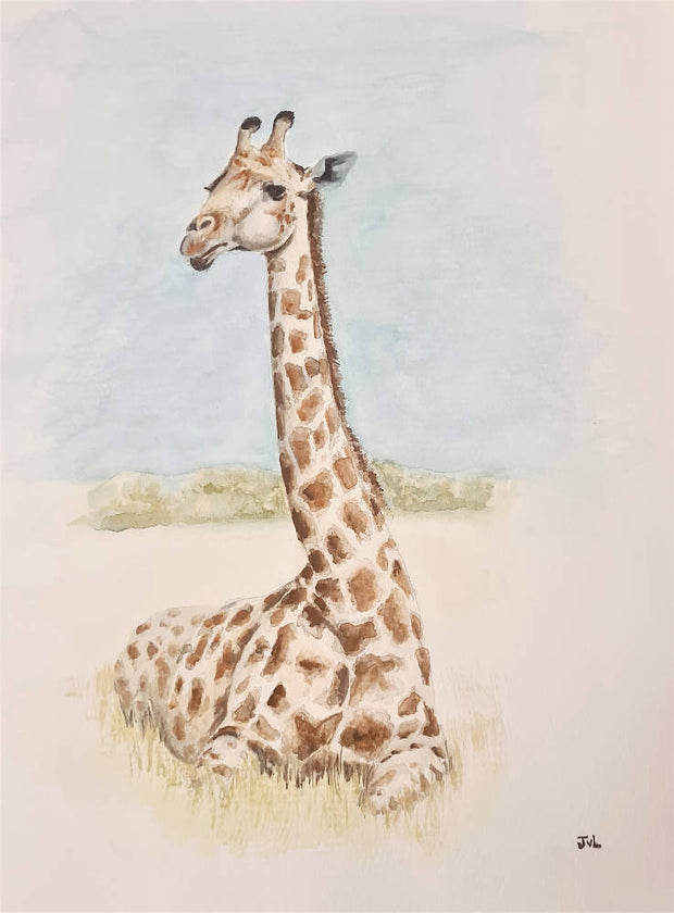 Giraffe - Watercolour