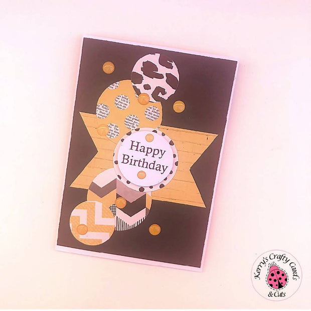 BLACK, YELLOW AND WHITE BIRTHDAY CARD COLLECTION
