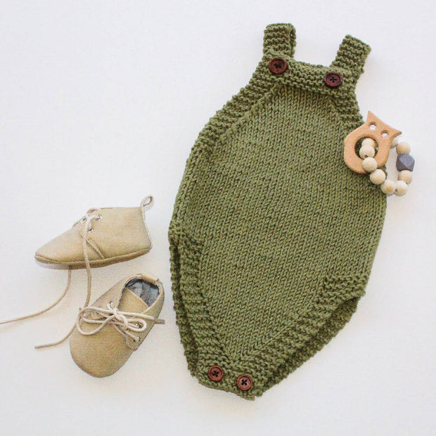 Forest Green At The Park romper with booties