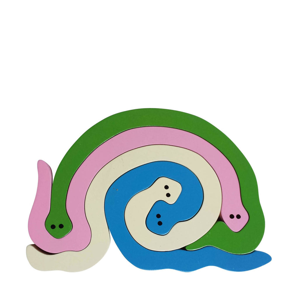 Snake Wooden Animal Puzzle